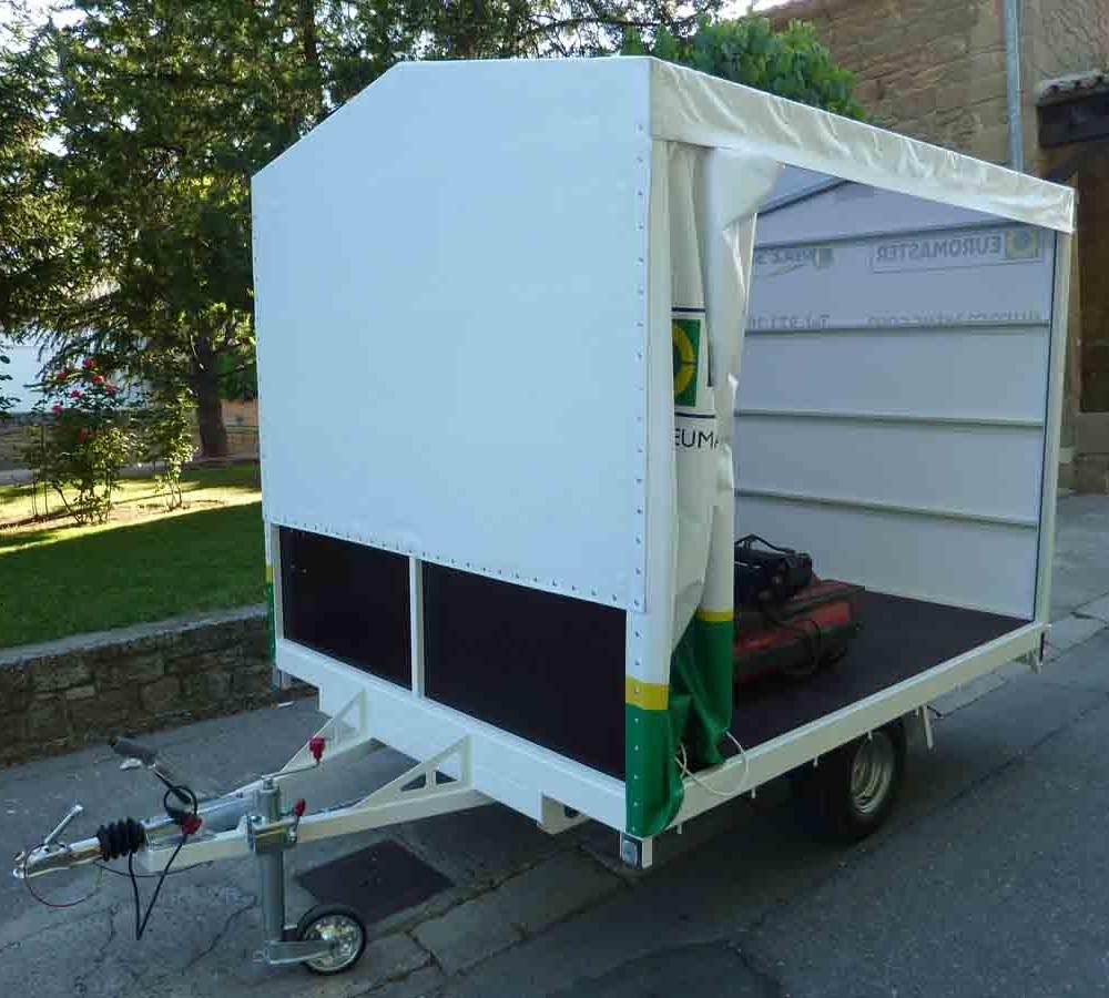 Canvas Car Garage : Canigó remolcs mobile garage with sliding